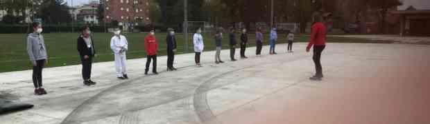 La Polisportiva Villanova inaugura il dojo all'aperto. Si torna ad allenarsi per strada