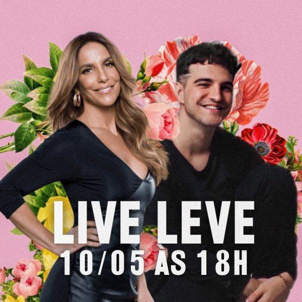 Anuncio da participação de Jão na live leve de Ivete Sangalo