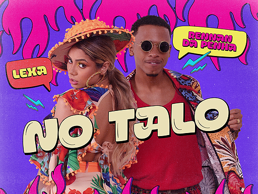 "Capa oficial de ""No Talo"" parceria de Lexa com Rennan da Penha"
