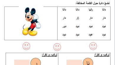 Photo of المادة التدريبية الرائعة لمبحث اللغة العربية الصف الأول الفصل الأول