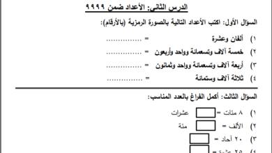 Photo of مجمع أوراق عمل الدرس الثاني لكافة المواد الدراسية للصف الثالث الفصل الأول