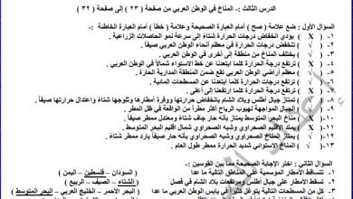 Photo of أسئلة هامة ومحلولة لدرس المناخ في الوطن العربي لدراسات ثامن الفصل الأول