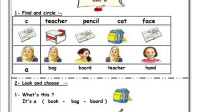 Photo of أوراق عمل رائعة للوحدة السادسة لمبحث اللغة الإنجليزية الصف الأول