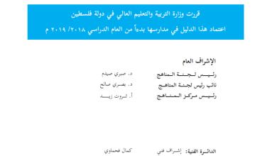 Photo of دليل المعلم لتنفيذ مبحث العلوم والحياة للصف التاسع الفصل الثاني