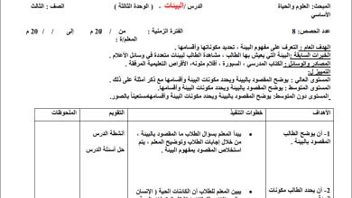 Photo of إعداد رائع لكافة دروس مبحث العلوم والحياة الفصل الثاني للصف الثالث الأساسي