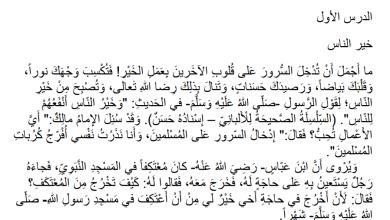 صورة نصوص الاستماع المكتوبة لمبحث اللغة العربية للصف السابع الفصل الثاني