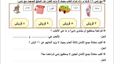 Photo of مراجعة رائعة لوحدة الجمع ضمن 18 لمبحث الرياضيات للصف الأول الفصل الثاني