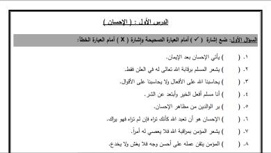 Photo of ورقة عمل رائعة لدرس الإحسان لمبحث التربية الإسلامية للصف الثالث الفصل الثاني