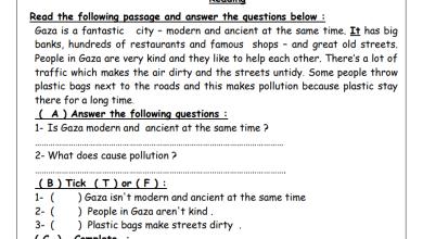 Photo of أوراق عمل رائعة وشاملة للوحدة 11 لمبحث اللغة الإنجليزية الصف السابع