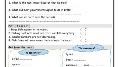 Photo of أوراق عمل رائعة للوحدة 10 لمبحث اللغة الإنجليزية للصف التاسع الفصل الثاني