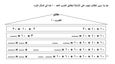 Photo of أوراق عمل رائعة لحقائق ضرب العدد 10 لمبحث رياضيات ثاني الفصل الثاني