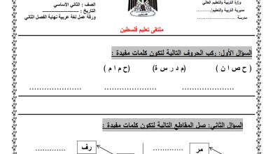 Photo of مجمع الامتحانات الرائعة والهامة لنهاية الفصل الثاني لكافة المواد للصف الثاني
