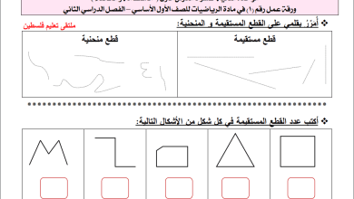 Photo of أوراق عمل رائعة وشاملة لوحدة الهندسة لمبحث الرياضيات أول الفصل الثاني