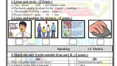 Photo of امتحان حكومة مصور لنهاية الفصل الثاني لمبحث اللغة الإنجليزية خامس 5