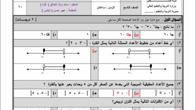 Photo of امتحانات حكومة رائعة وهامة لنهاية الفصل الثاني لمبحث الرياضيات للصف التاسع
