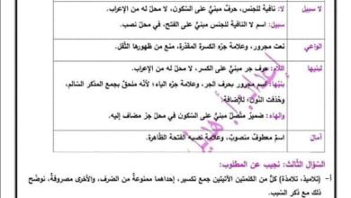 Photo of توقعات هامة جدا ومجابة لأسئلة قواعد اللغة العربية لامتحان الثانوية العامة