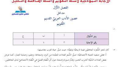 Photo of إجابات الوزارة النموذجية لأسئلة كتاب الأدب والبلاغة للحادي عشر أدبي الفصل الأول