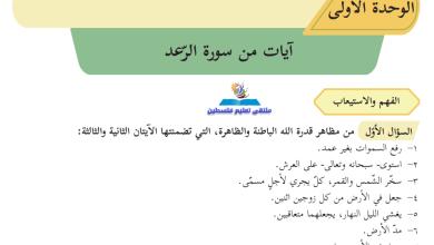 Photo of إجابات الوزارة النموذجية لأسئلة كتاب المطالعة للحادي عشر الفصل الأول