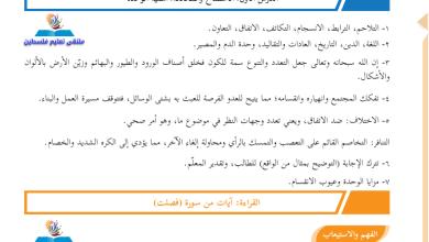 Photo of إجابات الوزارة النموذجية لأسئلة كتاب اللغة العربية للصف الثامن الفصل الأول