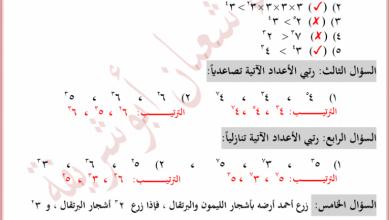 Photo of مراجعات نهائية مجابة وهامة جدا لمبحث الرياضيات للصف السادس الفصل الأول