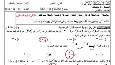 Photo of كل ما يلزم لتقديم امتحان الثانوية العامة لمبحث الرياضيات ورقة أولى للفرع العلمي