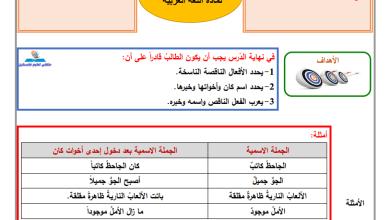صورة إجابة الدروس 1-3 من المادة الاستدراكية لمبحث اللغة العربية للصف الثامن
