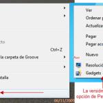 Windows 7 Starter:Escritorio
