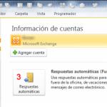 Outlook 2010–Exchange: Asistente para fuera de oficina–Respuestas automáticas
