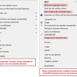 Windows 7: menú contextual en carpetas y archivos