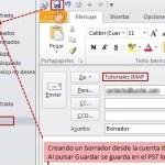 Outlook 2010: borradores en cuentas IMAP