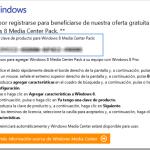 De Windows 8 Pro a Windows 8 Pro con Media Center