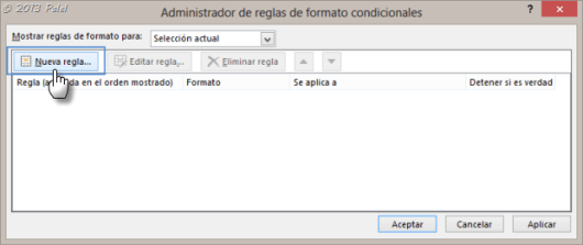 Excel - Formato condicional 2