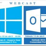 WebCast para el mes de abril: Windows 8 y Outlook 2013