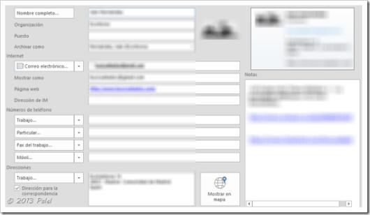 Contactos Outlook 2013 5