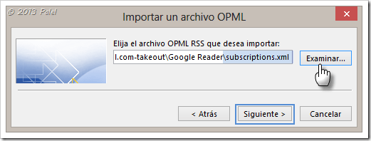 Fuentes RSS en Outlook 9
