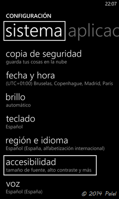 Windows Phone - Accesibilidad