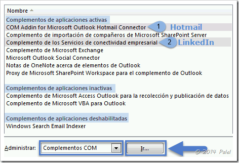 Complementos Outlook 2010 - Palel.es