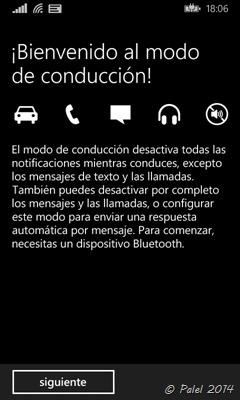 Modo conducción en Windows Phone - palel.es