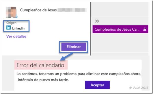 Eliminar cumpleaños - palel.es