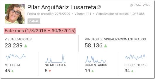 Estadísticas agosto 2015 - palel.es