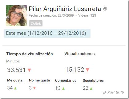 Estadísticas diciembre 2016 - palel.es