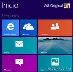 Inicio de Windows 8