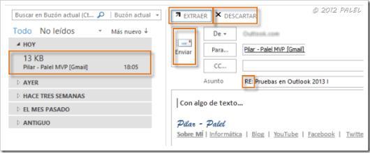 Bandeja de entrada - Outlook 2013 - Responder