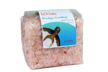 123Salz - Himalaya*Kristallsalz grob 2-5 mm - Vorratspackung 1000 g, für Salzmühlen, geprüfte Qualität - 1