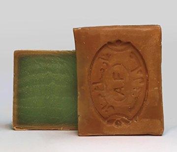 190 g Hochwertige Original Aleppo-Seife Handgeschnitten| 40% Lorbeeröl & 60% Olivenöl ,geeignet für Gesicht|Körper|Haarwäsche|Rasur, 100% Natur, Vegan | Natur - 3