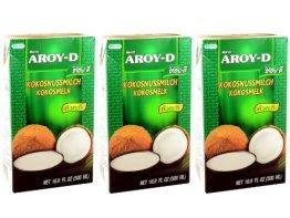 Aroy-D - Kokosmilch - 3er Pack (3 x 500ml) - 1