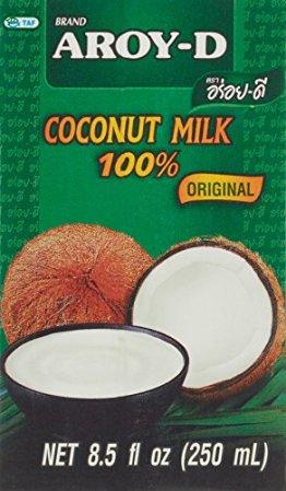 Aroy-D Kokosnussmilch, Fettgehalt: ca. 17%, 18er Pack (18 x 250 ml Packung) - 1