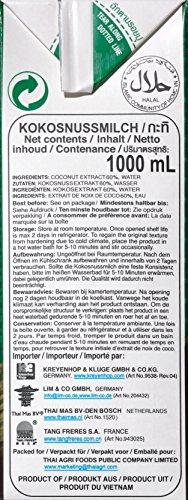 Aroy-D Kokosnussmilch, Fettgehalt: ca. 17%, 4er Pack (4 x 1 l Packung) - 6