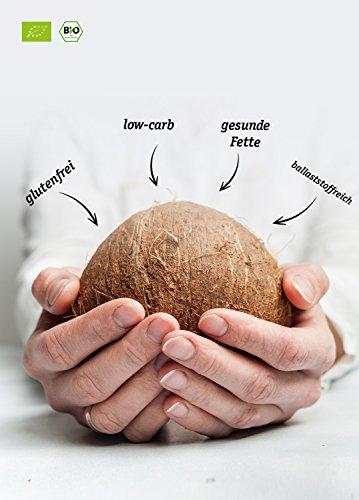 BIO KOKOSMEHL | Low-Carb Backen | Glutenfrei | Vegan | Entölt | Proteinreich | Ballaststoffreich | Paleo Superfood | Premium |Nachhaltig und Fair angebaut | Diät | 1000g - 2