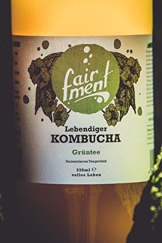 Bio-Kombucha Tee Getränk (3x1 Liter / unpasteurisiert / Grüner Tee / Fermentiert von Fairment®) … - 3